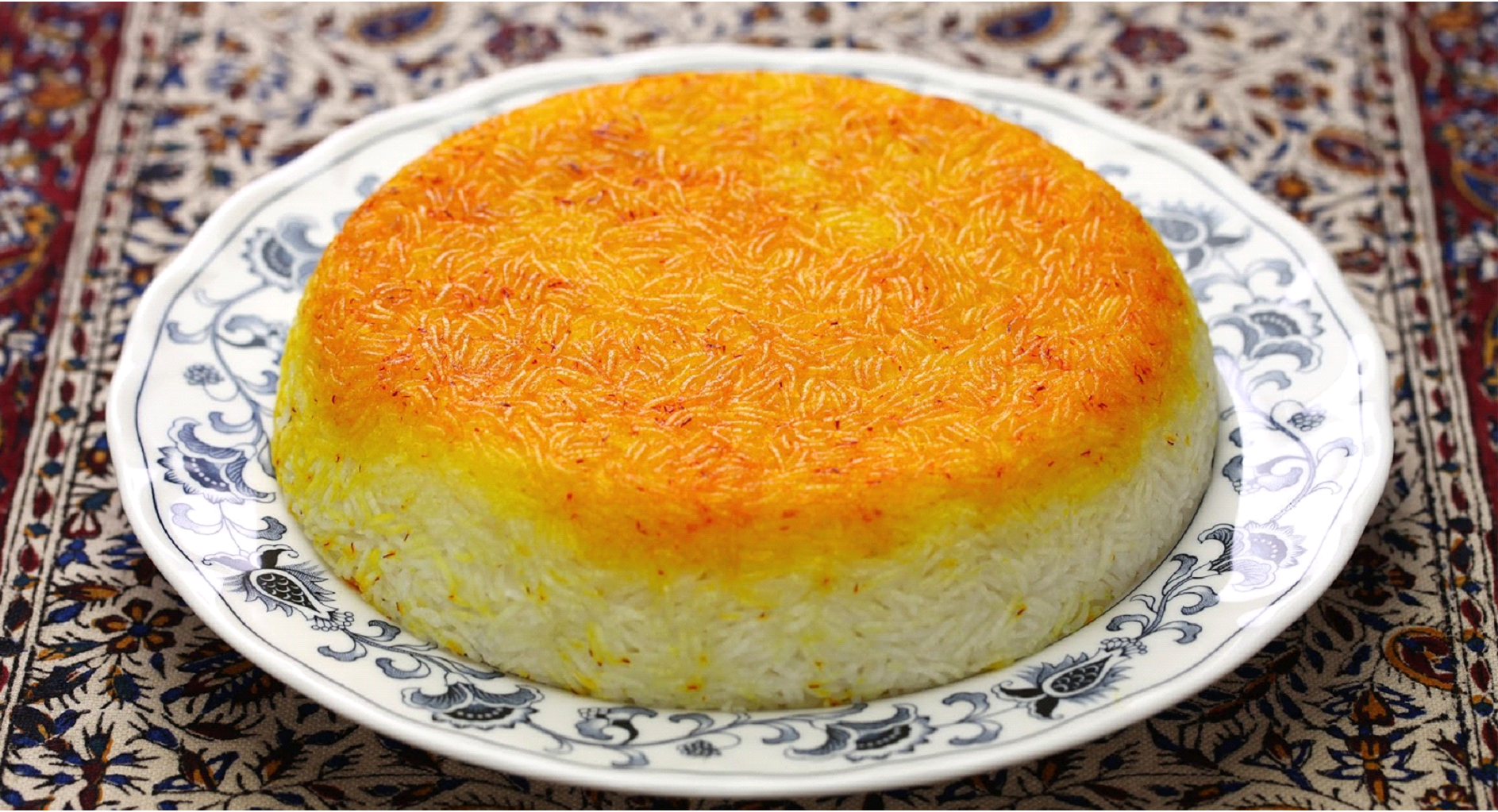 Steamed Saffron Rice with Tahdig or Chelo ba Tahdig